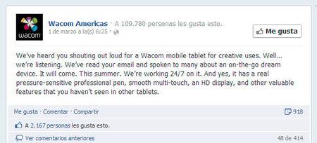Wacom prepara algo nuevo para verano ¿una tableta para tablets o una tablet para fotógrafos y creativos?