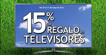 15% de regalo con televisores en 'El Corte Inglés'