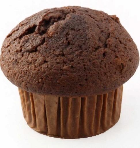 Muffins proteicos de chocolate y manzana