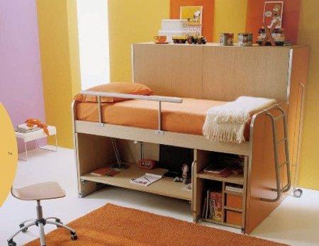 Soluciones para dormitorios juveniles con poco espacio - Soluciones escaleras poco espacio ...