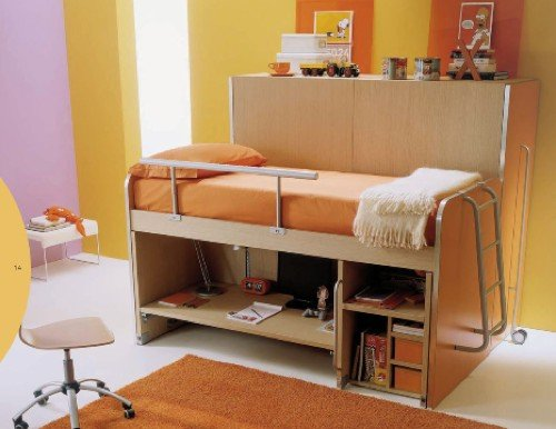 Soluciones para dormitorios juveniles con poco espacio for Muebles poco espacio