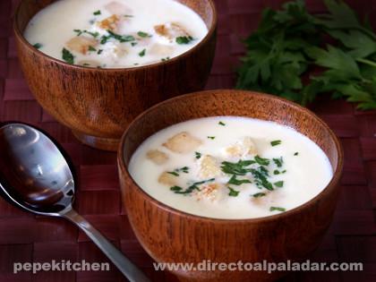 Sopa de melón y coco. Receta