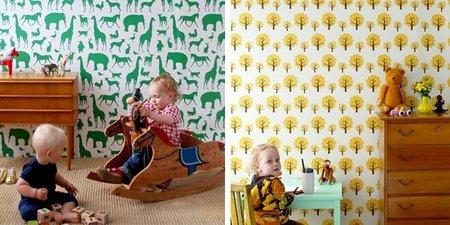 Papeles pintados de estilo nórdico para la habitación infantil