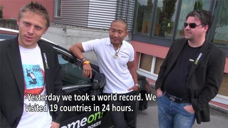 Tres amigos noruegos visitan 19 países en 24 horas