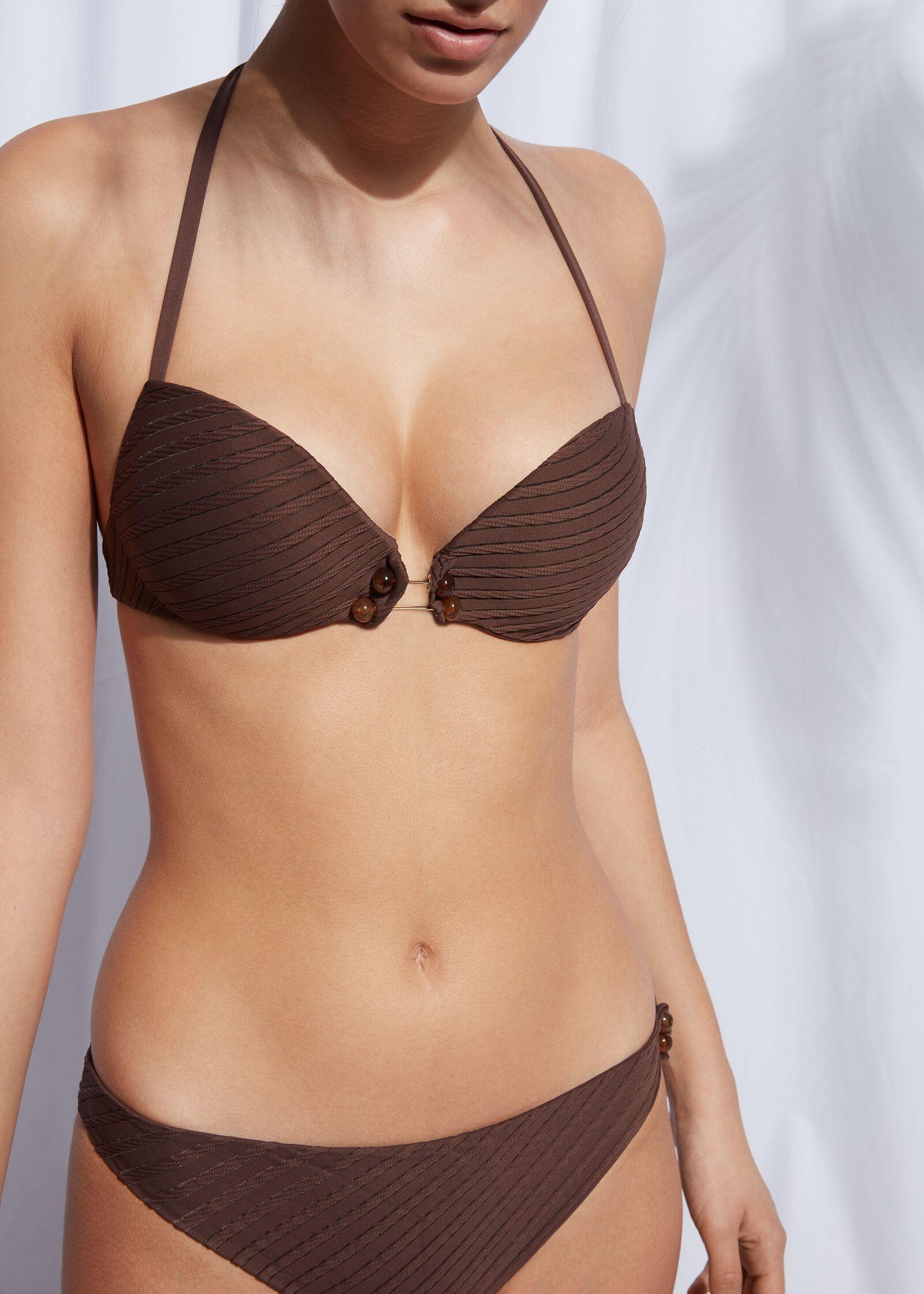 Bikini push up marrón