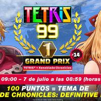 El próximo evento de Tetris 99 para desbloquear un tema especial estará dedicado a Xenoblade Chronicles