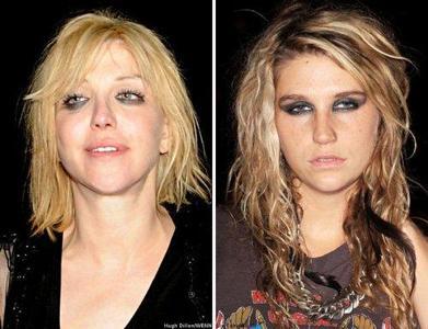 Separados al nacer: Ke$ha Vs. Courtney Love