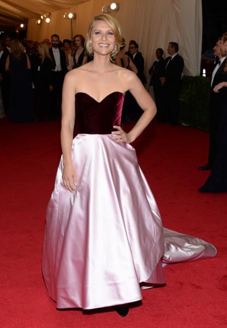 Claire Danes de Oscar de la Renta Gala MET 2014