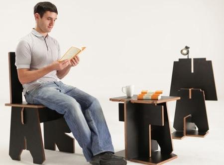 Componiendo muebles con las letras del abecedario con DDB Group