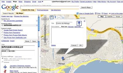 Nuestros viajes navideños en Google Maps