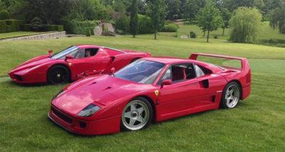 Un chaval de 18 años coge los Ferrari F40 y Enzo de su padre... para derrapar en el jardín