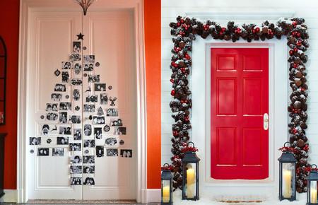 ideas para decorar la puerta de tu casa esta Navidad