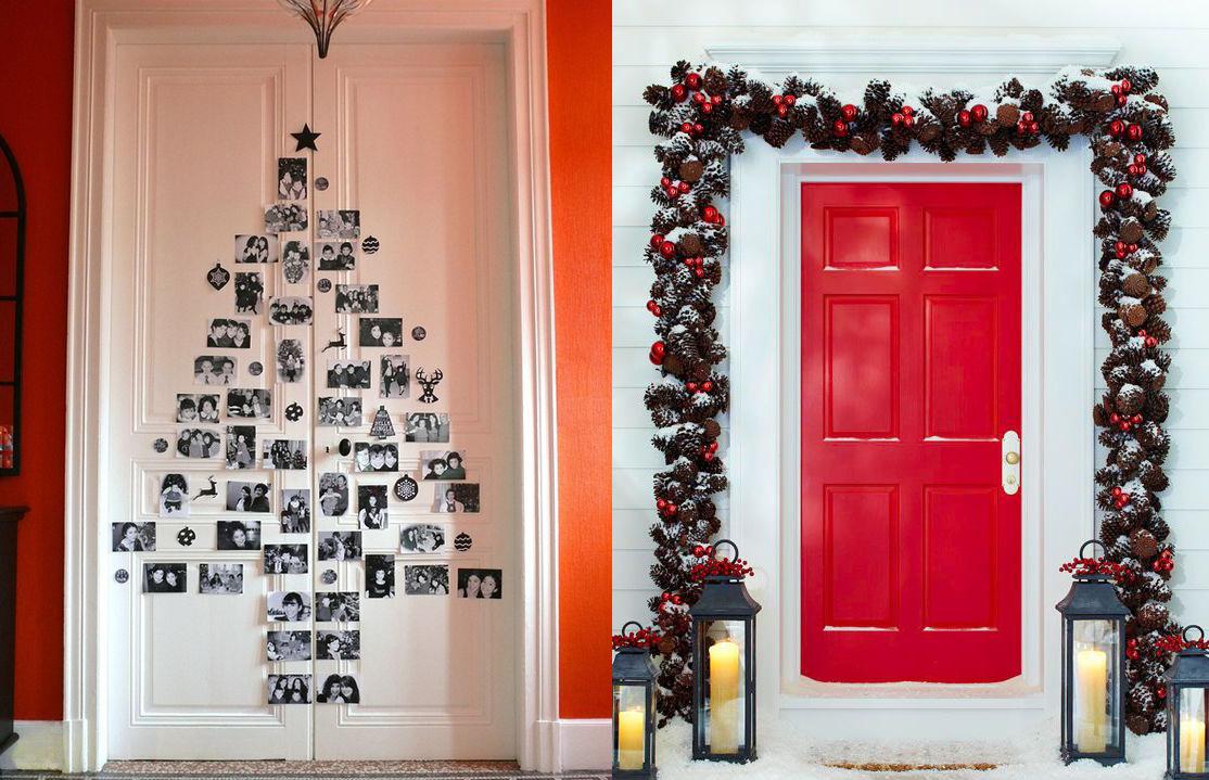 17 ideas para decorar la puerta de tu casa esta navidad for Decoracion de la puerta de entrada