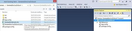 Añadir el fichero Excel al proyecto