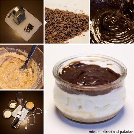mini tarta de queso mascarpone y chocolate - elaboración