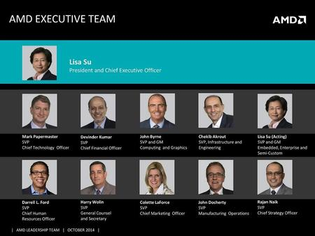 Amd Executive Team 2014