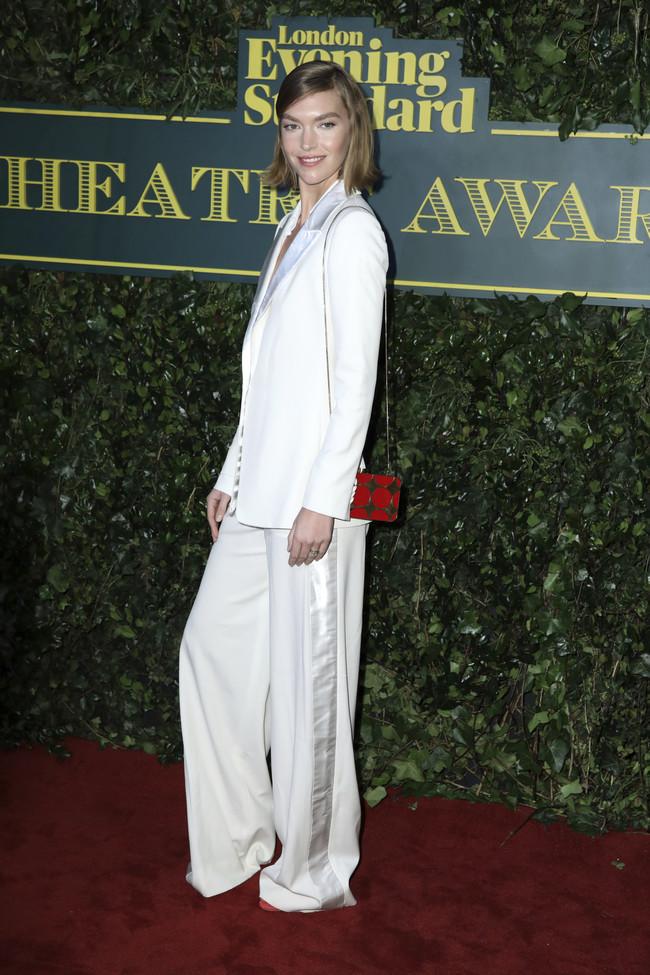 evening standard theatre awards 2017 red carpet celebrities Arizona Muse