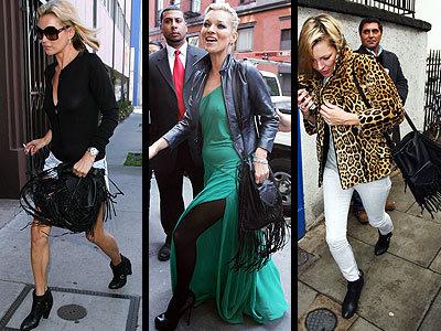 Las celebrities y sus obsesiones: Kate Moss y su bolso de flecos
