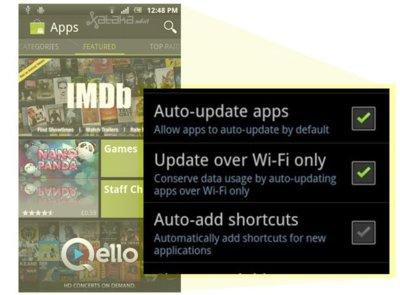 La nueva versión del Android Market añade la función de actualizar automáticamente todas las aplicaciones