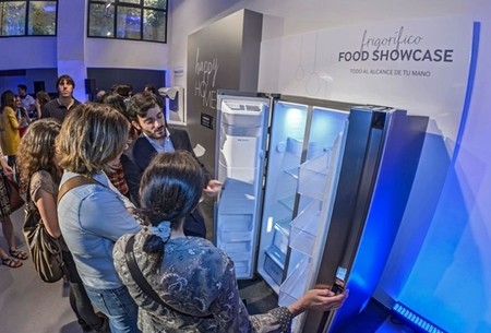 samsung premium collection frigorifico showcase