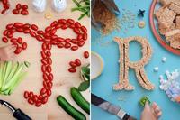 Divertidas letras comestibles para que los niños aprendan el alfabeto