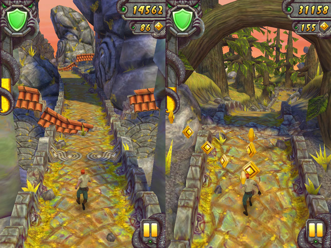 Los mejores juegos gratis para iOS - Endless Runners - temple run