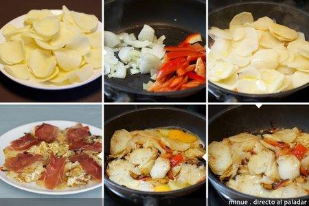 Patatas rico y pobre - elaboración