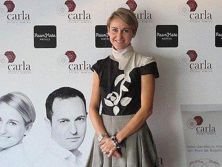 Carla de Bulgaria presenta el primer producto de la línea  de cosmética masculina