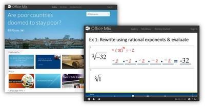 Office Mix se actualiza ofreciendo una galería online de lecciones educativas