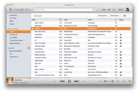 """Google Music for Mac, cliente """"nativo"""" para el servicio de música de Google"""