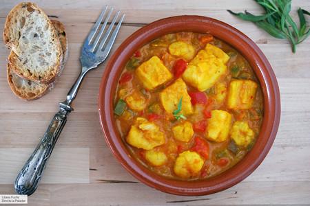 Bacalao en salsa de azafrán y gambas: receta para mojar pan
