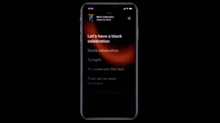 Letras canciones iOS 13