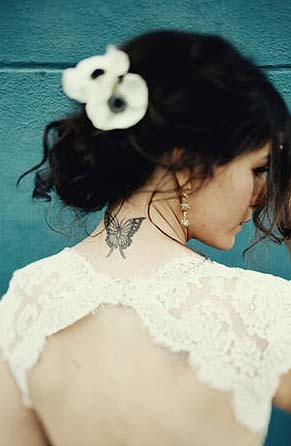 ¿Novia tatuada?