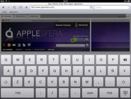 """Añade un botón de """"home"""" en la versión de Safari para el iPad"""
