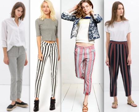 tendencia pantalones de rayas