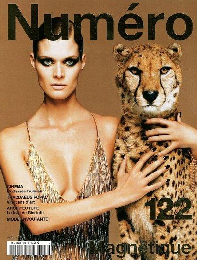 Look felino para la portada de Numéro