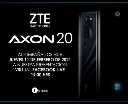Zte Axon 20 Llega Mexico Primer Smartphone Camara Bajo Pantalla 11 Febrero