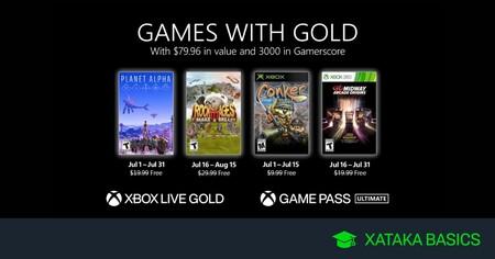 Juegos de Xbox Gold gratis para Xbox One y 360 de julio 2021
