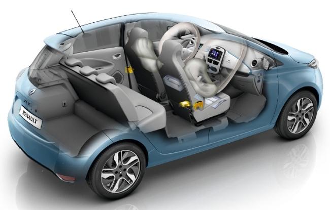 Renault ZOE transparente (maletero)