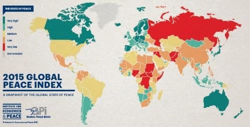 Mapa de la paz global: ¿cuál es el país más seguro? ¿y el más violento?