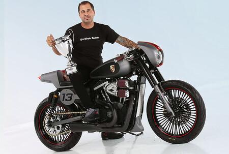 ¡Premiada! Esta Harley-Davidson se transforma en Cafe Racer y rinde tributo al Porsche Speedster