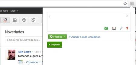 Surplus pone las notificaciones de Google+ en la barra de herramientas de Chrome