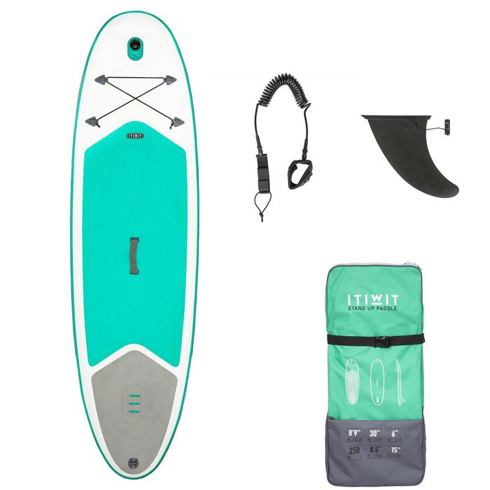 Tabla De Stand Up Paddle Hinchable De Travesía Iniciación Itiwit 8'9 Verde