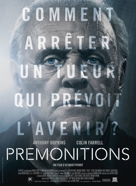 Anthony Hopkins en un póster de Solace (Premonitions en Francia)