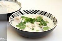 Sopa de pollo con leche de coco. Receta