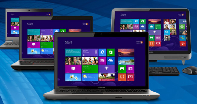 Ordenadores de Toshiba con Windows 8