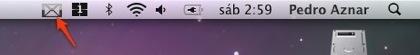 Icono de Gmail Notifier con el diseño de la nueva barra de menús de Leopard