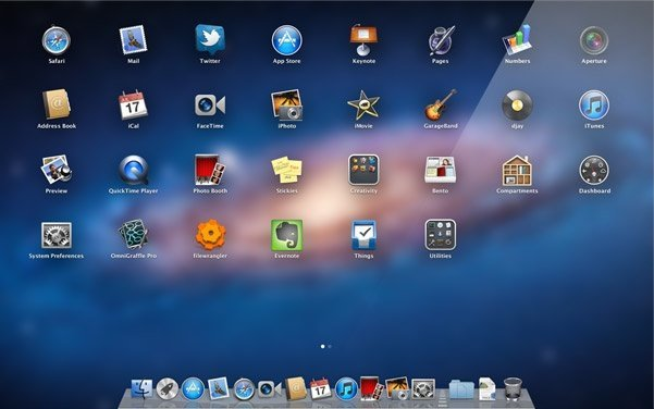 os x lion apple mac launchpad