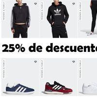 Cupón de descuento del 25% en Adidas en su sección Friends and Family: válido durante el día de hoy