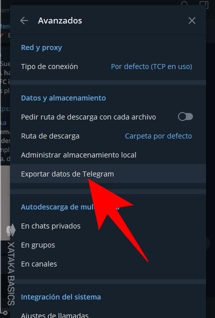 Exportar Telegram